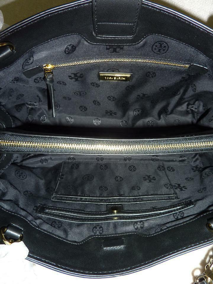 NWT Tory Burch Black Fleming Open Shoulder Tote image 12