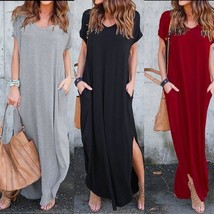 2018 New Fashion Womens T-Shirt Long Maxi Dress Split Evening Party Shir... - $30.60