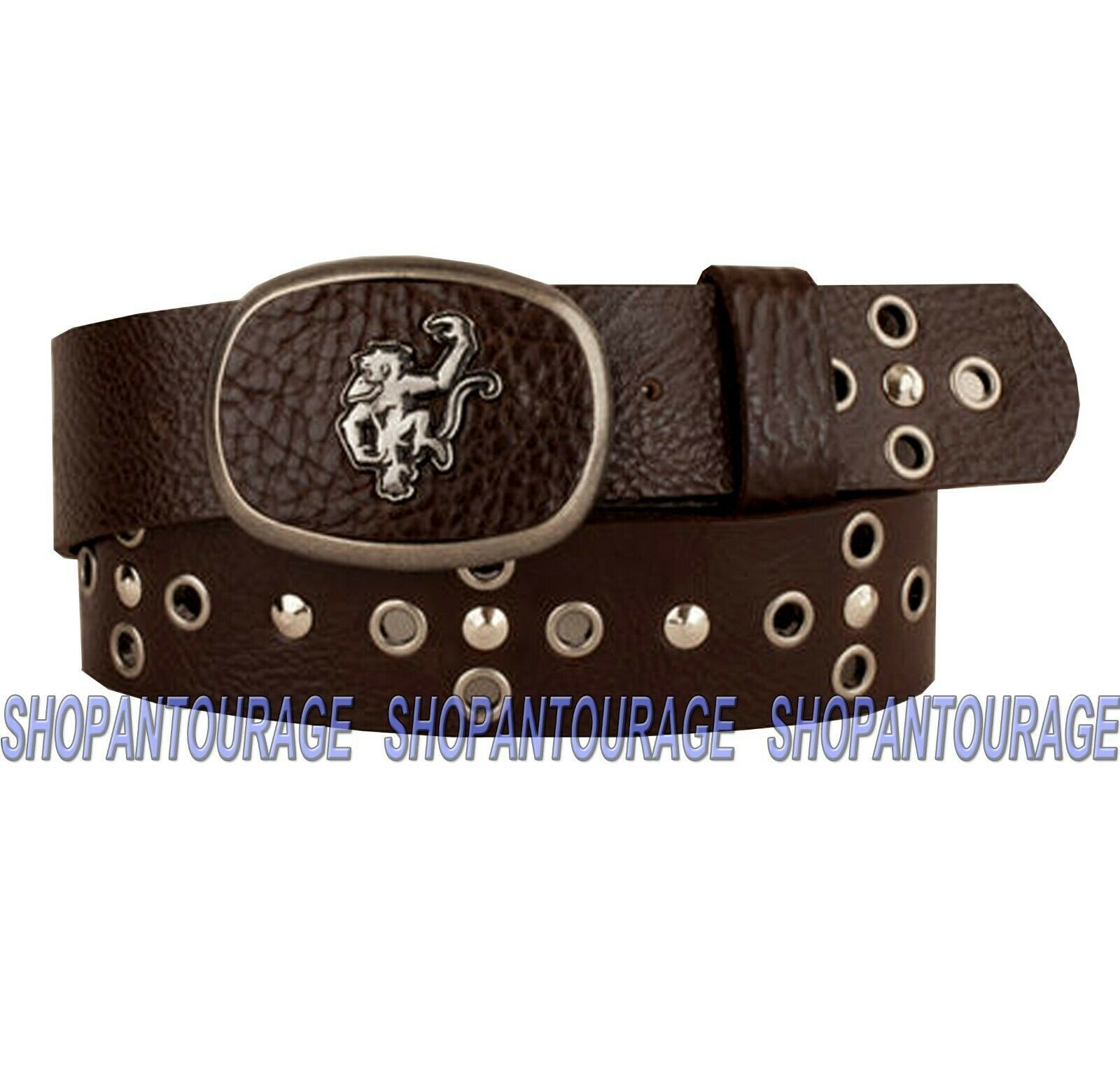 "Primary image for Red Monkey ""Six Shooter RMB-003 Handcrafted Studded Genuine Leather Belt for Men"