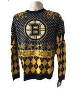 Mens Boston Bruins NHL Ugly Christmas Holiday Sweater Candy Canes Small ... - $69.99
