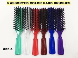 """Annie 6 Assorted Colors Hard Brush For Hair Daily Brush 8""""X 1-1/2"""" - $4.54"""