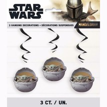 Star Wars The Mandalorian Child Yoda Hanging Decorations 3 Pc Birthday Party - $6.19