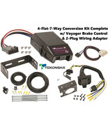 TEKONSHA 4FLAT-7WAY CONVERSION W/ VOYAGER BRAKE CONTROL FITS 15-17 TOYOT... - $168.15