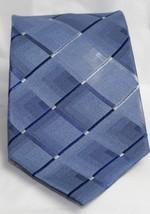 George Geometric Various Shades of Blue Silk Mens Neck Tie  - $10.93