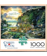 Charles Wysocki Jigsaw Puzzle Moonlight and Roses 1000 Pieces NEW - $17.95