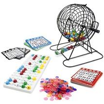 Royal Bingo Supplies Jumbo Bingo Set - 9-Inch Metal Cage with Calling Board, 75