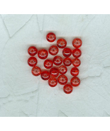 Special Buy 50 Bright Red Glass Crackle Beads 8 mm Jewelry Craft - $4.00