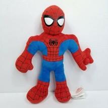 "Plush Spider-man Marvel Superhero Squad 10"" Stuffed Red Blue Web Shooting Sound - $14.84"