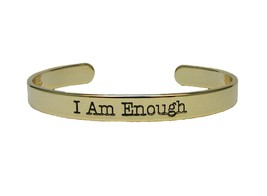 I Am Enough Bangle Bracelet Jewelry Inspirational  Friend BFF Daughter Gift - $12.65