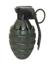 Toy GREEN Pineapple Hand Grenade with Sound Effects - 1 Piece - $6.99