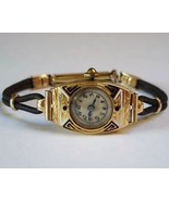 Gold Watch Art Deco 18k Solid Gold Ladies Watch... - $399.99
