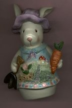 BUNNY RABBIT IN A PURPLE BONNET - $8.00
