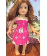 "homemade 18"" american girl disney frozen elsa sundress doll clothes - $12.47"