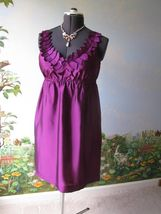 Ann Taylor Loft  Women Purple Cocktail Dress SZ 4 NWT - $49.49