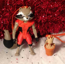 Baby Groot & Rocket Racoon Hanging Ornament Set Guardians of the Galaxy - $22.88