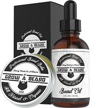 Beard & Mustache Balm and Oil Grooming Kit - All Natural And Organic Argan & Joj image 11