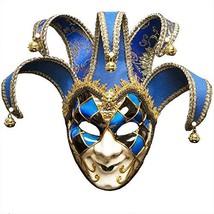 BLEVET Venezianische Maske Gesichtsmaske Joker Karneval Fasching (Blue) - $32.38 CAD