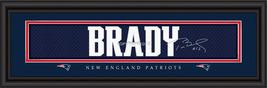 Tom Brady New England Patriots Player Signature Stitched Jersey Framed Print - $39.95