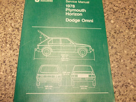 1978 Dodge Omni Plymouth Horizon Service Shop Repair Manual First Edition Oem 78 - $7.46