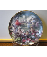 """Danbury Mint Collector Plate - """"Beauty In Bloom"""" - Family of Cardinals i... - $9.99"""
