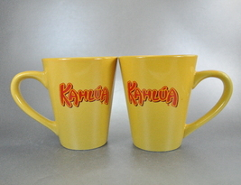 Kahlua Yellow 12 Ounce Pair Coffee Mug Cups - $10.00