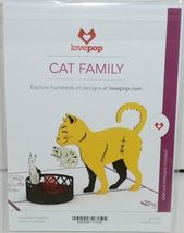 Lovepop LP1153 Cat Family Pop Up Card White Envelope Cellophane Wrapped image 6