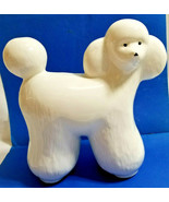 "Abstract Pottery Poodle White Dog Ceramic Collectible Statue Figurine 9""... - $45.95"