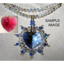 Heart Pendant with Crystal Strand image 3