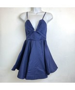 The blossom Apparel womens Size 6 blue sleeveless fit and flare A line d... - $28.04