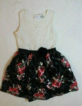 Childrens Place Girls Dress Sz M 7 8 White Black Pink Rose Tulle Valenti... - $21.77