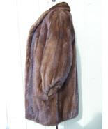 Beautiful Womens SOFT SHINY SUPPLE Evans Mahogany Mink Stroller Size Medium - $975.00