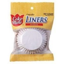 CAKE MATE LINER CUPCKE WHITE, 50 PC - $12.68