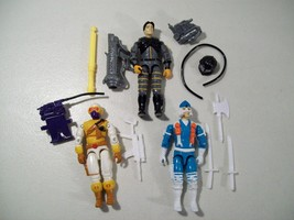 3 VINTAGE GI JOE ACTION FIGURES BUSHIDO SNOW SERPENT SCI FI WEAPONS 1991... - $17.59