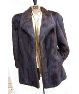 JUST REDUCED Gorgeous Vintage Mahogany Mink Coat Past Hip Size Medium/Large - $825.00