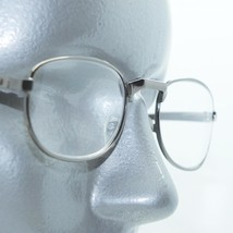 Reading Glasses Shiny Gray Metal Small Oval Frame Angle Bridge+1.50 Lens - $16.00