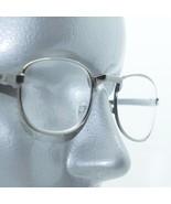 Reading Glasses Shiny Gray Metal Small Oval Frame Angle Bridge+1.50 Lens - $16.00