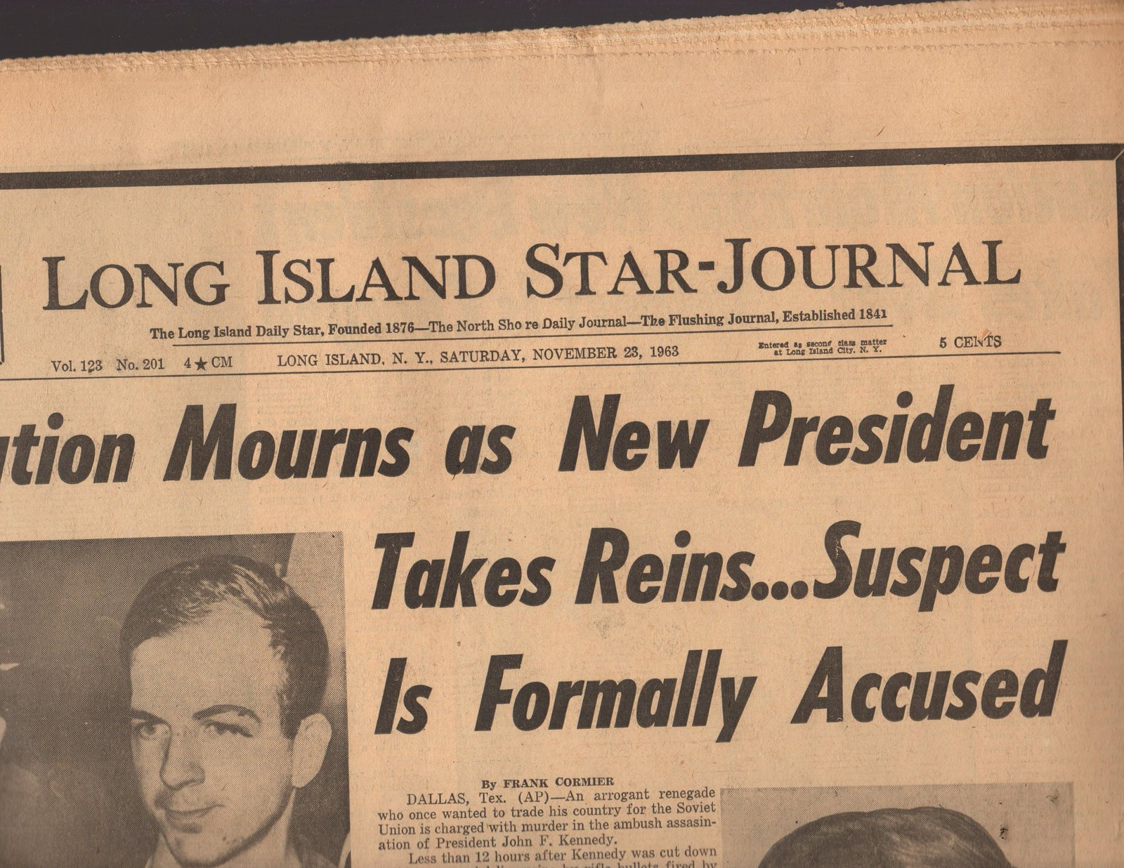 Primary image for Long Island Star  Journal  Newspaper 11/23/63  Saturday, November 23, 1963