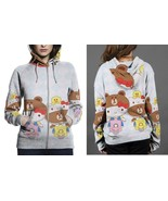 Hello Kitty And Brown Scooter Hoodie Zipper Fullprint Women - $50.99+