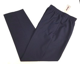 "Alia Casual Pants Slacks size 10 pull-on Navy Blue Polyester 30"" Inseam - $13.09"