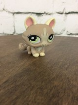 Littlest Pet Shop Tan Cream Cat Green Eyes Lps #1370 As Pictured - $9.89