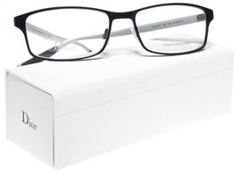New Christian Dior 0197 92K Black Palladium Eyeglasses Frame 56-17-145 B33 Italy - $176.40