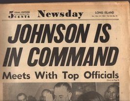 Newsday, New York Newspaper 11/23/63  Saturday. November 23, 1963 - $4.90