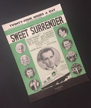 Vtg Twenty Four Hours A Day Carl Laemmle Sweet Surrender Sheet Music Col... - $8.90