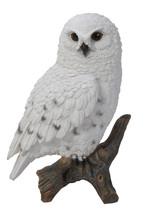 "6.7"" Tall Realist Look Snow Owl Standing Resin Figurine Statue - $23.75"
