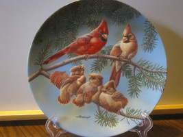 """Knowles China Collector Plate - """"The Singing Lesson"""", Family of Cardinals - $9.99"""