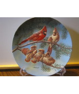 "Knowles China Collector Plate - ""The Singing Lesson"", Family of Cardinals - $13.04 CAD"