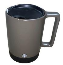Starbucks Coffee Cup Travel Mug Stainless Bottom Green Ceramic 14oz 2006... - $17.82