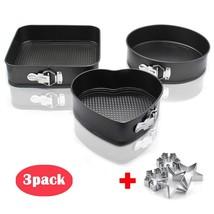 Nonstick Springform Cake Pan 3 pieces Nonstick Metal Cake Bakeware Set w... - ₹1,394.96 INR