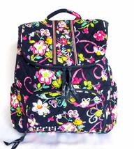 Vera Bradley Double Zip Backpack Bookbag Ribbons NWT - $91.00