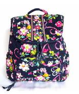 Vera Bradley Double Zip Backpack Bookbag Ribbon... - $90.00